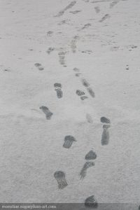 Feet in the snow - 2009